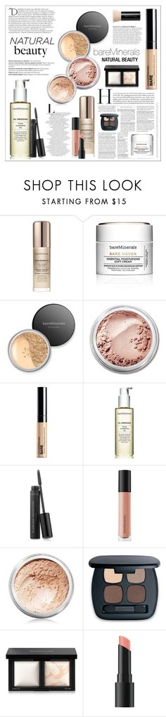 """""""NATURAL BEAUTY - BAREMINERALS MY DAILY ROUTINE"""" by kat969 ❤ liked on Polyvore featuring beauty, Bare Escentuals, Balmain and Anja"""