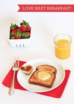 Love Nest Valentines Breakfast OneCharmingParty.com #valentines #breakfast