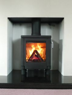 Kernow Fires Contura 51L wood burning stove installation in Cornwall.