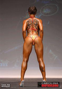 2015 NPC South Carolina Excalibur Bodybuilding show, Photo of Bikini Competitor doing a Back Stance Presentation for the judges. see more photos @ https://northcarolinabodybuilding.com