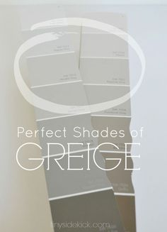 How to Choose the Perfect Greige Paint- Once you know the simple trick to selecting the perfect shade of greige paint you won't make expensive color mistakes. Excellent info for selecting color Room Colors, Wall Colors, House Colors, Interior Paint Colors, Paint Colors For Home, Interior Design, Neutral Paint, Griege Paint Colors, Best Greige Paint Color