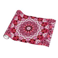 Basket of Jewels, Abstract Ruby Lace Candy Gift Wrap Paper #Christmas  modern abstract red paper