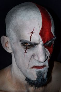 MakeUp: Kratos - God of War by JessieOctober.deviantart.com on @DeviantArt
