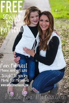 Faux Fur Vest For Mama & Child Tutorial (with template)