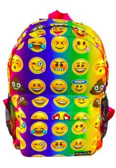 Top Trenz Tie-Dye Emoji Backpack