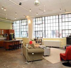 Soho - New York - amplas janelas, tubulação aparente, piso de cimento. Real loft!!!