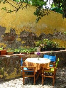 tranquil garden dining