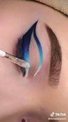 Dope Makeup, Edgy Makeup, Eye Makeup Art, Crazy Makeup, Smokey Eye Makeup, Eyebrow Makeup, Eyeshadow Makeup, Creative Eye Makeup, Colorful Eye Makeup