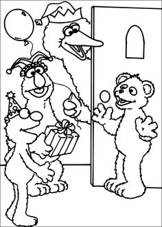 The 13 best Sesame Street Coloring Pages images on Pinterest ...