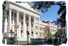Cape Town Parliament building South Africa Tours, Cape Town South Africa, Port Elizabeth, Houses Of Parliament, Dream City, A Whole New World, Most Beautiful Cities, Holiday Destinations, National Parks