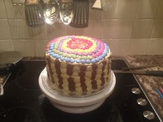 Candy covered birthday cake