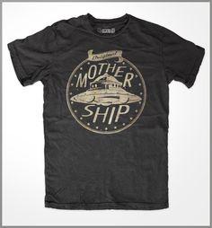 Mother Ship  Alien t-shirt  Alien shirt  Alien T Shirt  by 5AREA1