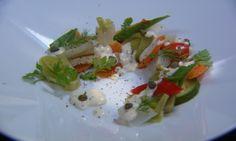 Gestoomde groenten met mosterdvinaigrette | VIER Hmm vinaigrette met eiwit! Origineel!