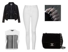 """Monochrome chic by Sarah Nicole"" by bellajimenez on Polyvore featuring Alexander Wang, Chanel, Topshop and Zizzi"