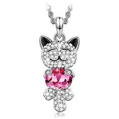 Best Christmas Gifts Ruby SWAROVSKI ELEMENTS Crystal Lucky Cat Pendant Necklace Swarovski Christmas Gift http://www.amazon.com/dp/B00VTDWK0A/ref=cm_sw_r_pi_dp_-3Cvwb1YWTR14