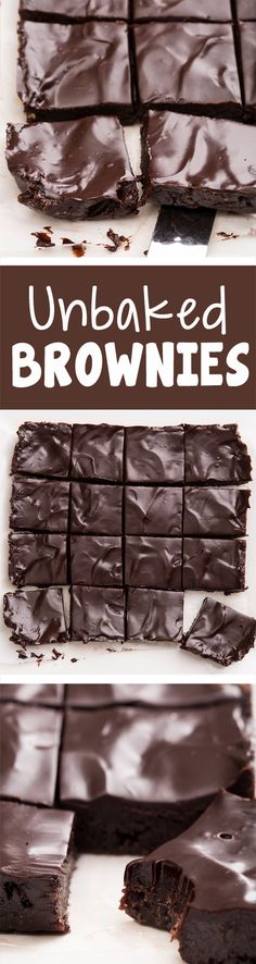 The Ultimate Unbaked Brownies. These are a MUST try!