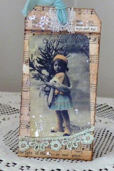 Wonderful Noel Handmade Greeting Card by myvintagewhimsies on Etsy