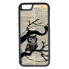 CellPowerCasesTM Vintage Owl On Tree iPhone 6 (4.7) Protective V1... ($13) ❤ liked on Polyvore featuring accessories, tech accessories, phone cases, tech and black