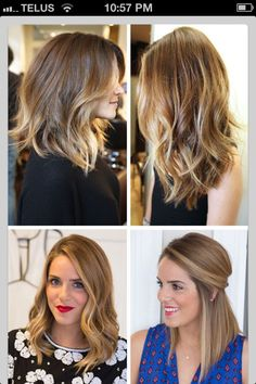 Time for a new look... Short ombre hair @Tricia Anderson   Love the top left and bottom two!