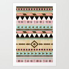 Southwestern Tribal Pattern Art Print by Rebekah E. Designs   Society6