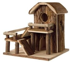 Nobby Woodland Natural Wooden Play House for Hamster Mouse House on Right 30 | eBay