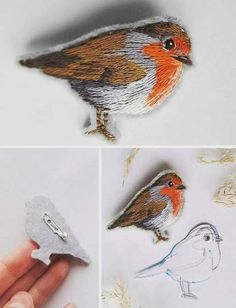 Awesome Most Popular Embroidery Patterns Ideas. Most Popular Embroidery Patterns Ideas. Embroidery Designs, Bird Embroidery, Hand Embroidery Patterns, Beaded Embroidery, Cross Stitch Embroidery, Embroidered Bird, Thread Painting, Fabric Crafts, Needlework