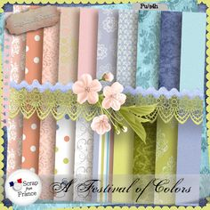 """Kit """"A Festival of Colors"""" by Angélique's Scraps Now with a discount of 30% untill 26/08.  http://scrapfromfrance.fr/shop/index.php?main_page=product_info&cPath=88_246&products_id=7088"""