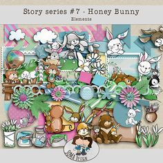 Oscraps.com :: Shop by Category :: All New :: SoMa Design: Honey Bunny Kit Honey Bunny, Digital Scrapbooking, Kit, Shop, Design, Design Comics, Store