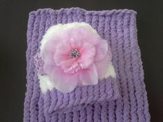 baby girl cocoon gift set lavender cocoon by BloomingRoseCrochet