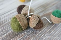 crafts felted acorn garland, crafts, fireplaces mantels, seasonal holiday decor