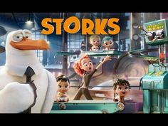has debuted the teaser trailer from their upcoming animated film Storks, featuring the voices of Kelsey Grammer and Andy Samberg. Streaming Movies, Hd Movies, Movie Film, Movies Online, Apple Tv, Teaser, Storks Movie, Storch Baby, Jennifer Aniston Movies