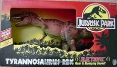 Jurassic Park Electronic Tyrannosaurus Rex Action Figure by Kenner, http://www.amazon.com/dp/B000J4HJBA/ref=cm_sw_r_pi_dp_29cGrb0GM782M ($350.00)