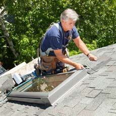 How to install a skylight in an existing roof.