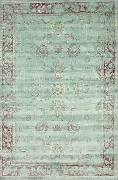 Adira 100% Viscose Area Rug in Spruce Blue design by NuLoom