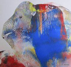 """Els Driesen, """"olifant"""" (128) Mit einem Klick auf 'Als Kunstkarte versenden' versenden Sie kostenlos dieses Werk Ihren Freunden und Bekannten."""