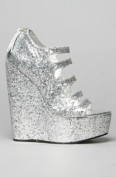 a7ce03bd1545 Women s Senso Wedges. The Rush Shoe in Silver Glitter by Senso Diffusion  Global Concrete ...