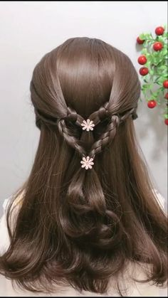 Bun Hairstyles For Long Hair, Braids For Long Hair, Headband Hairstyles, Braided Hairstyles, Flower Girl Hairstyles, Everyday Hairstyles, Hair Up Styles, Short Hair Styles Easy, Medium Hair Styles