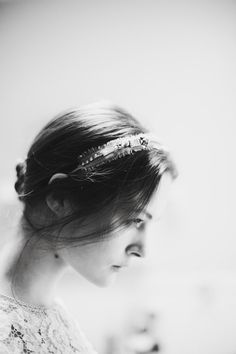 Headpiece by Jennifer Behr