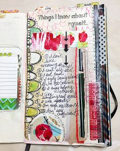 """Documented Life Project - (Week Five)."""" - {Roben-Marie Smith} - The Documented Life Project - (Week Five)."""" - {Roben-Marie Smith} - The Documented Life Project - (Week Five). Art Journal Pages, Junk Journal, Life Journal, Wreck This Journal, Bullet Journal, Art Journals, Moleskine, Smash Book, Up Book"""