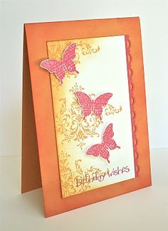 Stampin Up Bliss set - Beautiful bright birthday card