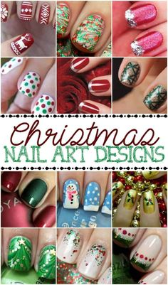 Christmas Nail Art Designs Looking for a Christmas nail ideas? Check out these easy and cute Christmas nail art designs! Cute Christmas Nails, Xmas Nails, Halloween Nails, Diy Nails, Nail Nail, Christmas Diy, Fancy Nails, Trendy Nails, Cute Nails