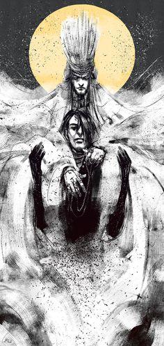 Melkor Manwë Manwe Sulimo Morgoth Bauglir JR Tolkien silmarillion arda art Illustration captainhowell.tumblr.com