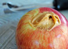 Apple stuffed with Nut Butter Nut Butter, Vegan Desserts, Sweet Treats, Vegetarian, Apple, Snacks, Fruit, Recipes, Posts