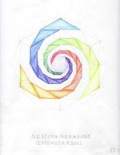 Age 12 ~ Geometric Drawing ~ Turning Nesting Hexagons