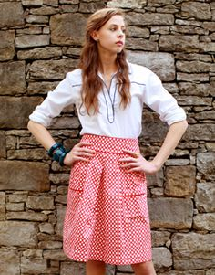 yup red and circles…would love this! alison skirt