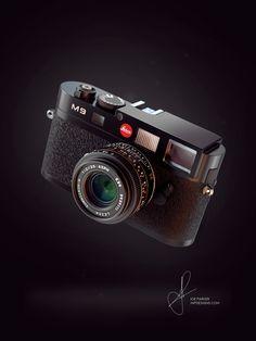 Leica M9 Visual using KeyShot & Photoshop by Joe Parker. Model courtesy of Maciek Ptaszynski Bechance. For more visit www.jnpdesigns.com