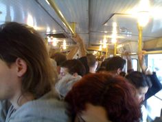 Monday morning on the tramway, Budapest