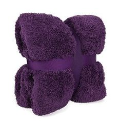 New Large 130 x 180cms Teddy Soft Cuddly Fluffy Purple / Grape / Aubergine Plain Throw Bed / Sofa Throwover Blanket: Amazon.co.uk: Kitchen & Home