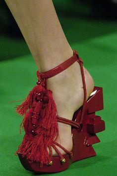 Christian Lacroix. Perfect shoes for Catalina!