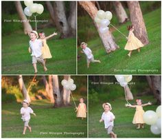 Little boy and girl playing catch.  Young romance - so sweet :-)